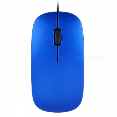 YR-5084 Mini Optical USB Wired Mouse for Notebook Laptop Desktop Computer - Blue