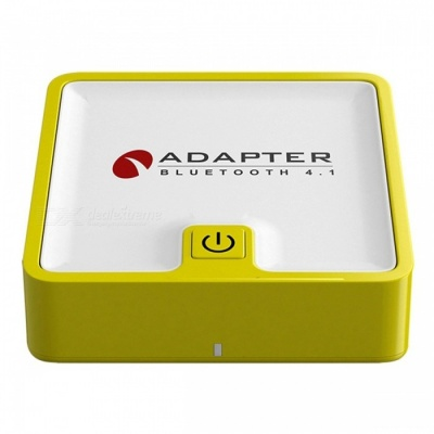 BTI-039 Transmitter Two In One 3.5mm Portable Bluetooth Wireless Receiver Audio Adapter - Yellow