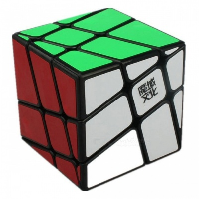 MoYu Crazy Windmill Smooth Speed Magic Cube Finger Puzzle Toy 57mm - Black