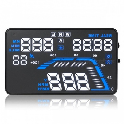 "Q7 Universal 5.5"" Car HUD Head Up Display GPS Speed Indicator Car Speed Excess Warning"