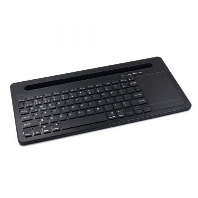 Universal Ultra Mute Bluetooth V3.0 Keyboard with Slot for Mobile Smartphone, Tablet - Black