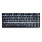 AJAZZ AK33 Alloy 82-Button Suspended Mechanical Game Keyboard with Backlight - Black