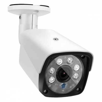 "COTIER 1500TVL Bullet Security CCTV Camera with 1/3"" CMOS 3.6mm Lens for DVR Surveillance System - White (US Plug)"