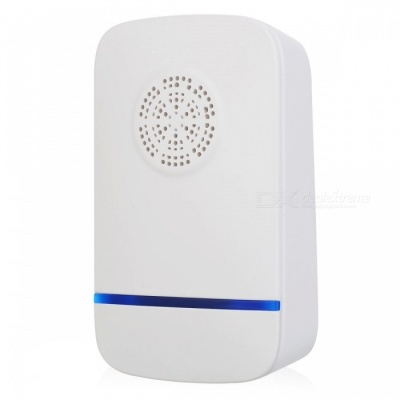 808 Portable Plug-In Type Ultrasonic Pest Repeller for Home Use - White (UK Plug)