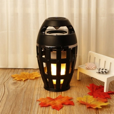 Portable LED Flame Decorative Bluetooth V4.2 Wireless Sound Box Speaker for Indoor and Outdoor