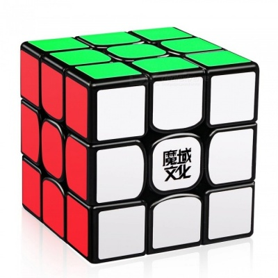 MoYu Weilong GTS2 3x3x3 Smooth Speed Magic Cube Finger Puzzle Toy 56mm - Black
