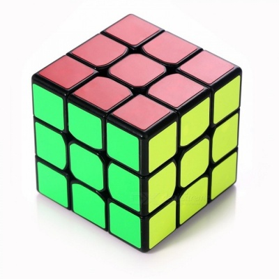 MoYu Tanglong 3x3x3 Smooth Speed Magic Cube Finger Puzzle Toy 56.5mm - Black