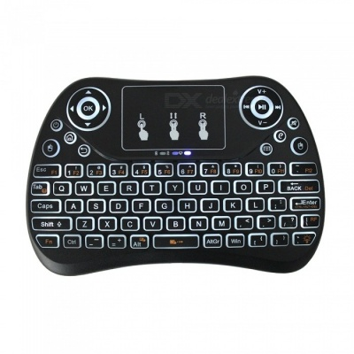 T2 Mini Fly Air Mouse Remote Control Wireless Keyboard w/ Flat Touchpad, Backlight for Mini PC Mac Linux