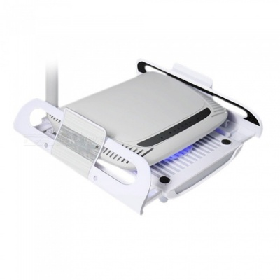 Portable Radiator Cooler Pad for Router, TV Set-Top Box - White