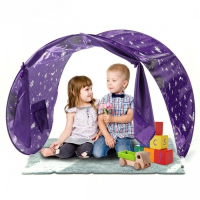 P-TOP Portable Foldable Folding Play Tent for Children, Waterproof Starry Sky Castle House Best Gift Outdoor Toy - Purple