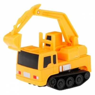 Magic Mini Construction Truck Excavator Black Drawn Line Toy Car for Kids- Yellow