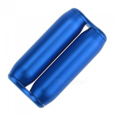 Aluminum Alloy Hand-Held Rotating Roller Massager, Pressure Anxiety Relief Toy for Adults - Blue