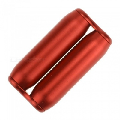 Aluminum Alloy Hand-Held Rotating Roller Massager, Pressure Anxiety Relief Toy for Adults - Red
