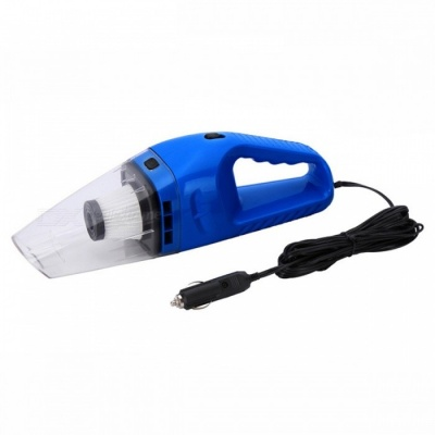 P-TOP 12V 120W Portable Handheld Mini Car Vacuum Cleaner, Wet Dry Dual-use Super Suction Dust Cleaner Catcher Collector - Blue