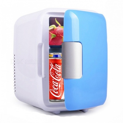 P-TOP Portable Mini 4L 12V Multi-Function Car Cooler Freezer Warmer Refrigerator w/ Auto Supply for Home Travel Use