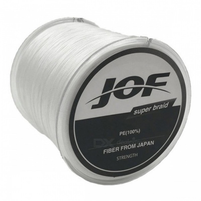 P-TOP 500m Braided PE Strong Multifilament Fishing Line for Carp Saltwater Fishing - White (#8)