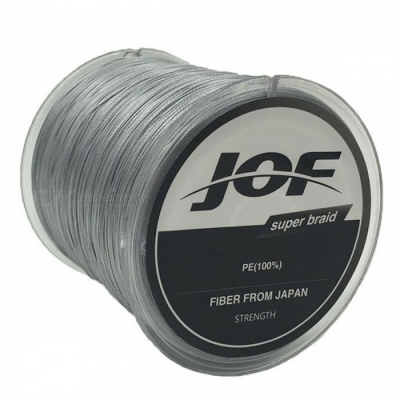 P-TOP 500m Braided PE Strong Multifilament Fishing Line for Carp Saltwater Fishing - Gray (#5)