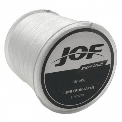P-TOP 500m Braided PE Strong Multifilament Fishing Line for Carp Saltwater Fishing - White (#2)