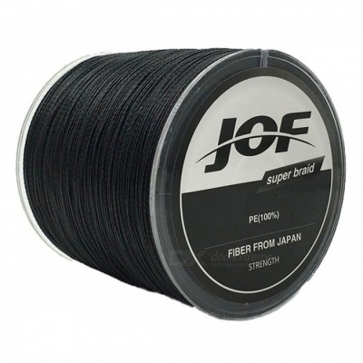 P-TOP 500m Braided PE Strong Multifilament Fishing Line for Carp Saltwater Fishing - Black (#8)