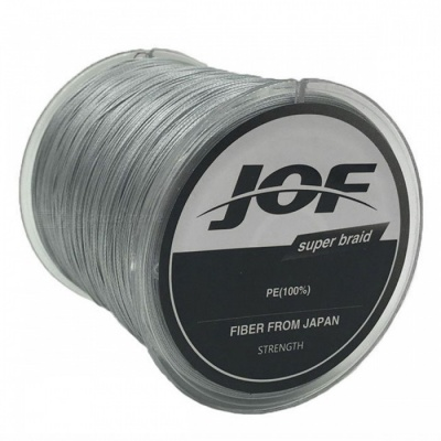 P-TOP 500m Braided PE Strong Multifilament Fishing Line for Carp Saltwater Fishing - Gray (#2)