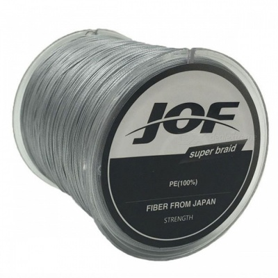 P-TOP 500m Braided PE Strong Multifilament Fishing Line for Carp Saltwater Fishing - Gray (#8)