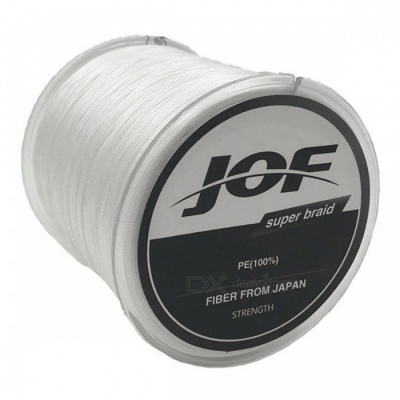 P-TOP 500m Braided PE Strong Multifilament Fishing Line for Carp Saltwater Fishing - White (#5)