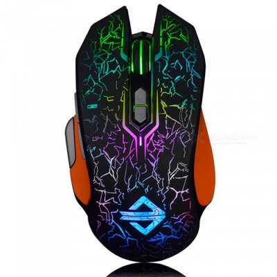AJAZZ GT RGB Portable Programmable USB Wired Gaming Mouse with Breathing Light for Notebook Desktop Computer