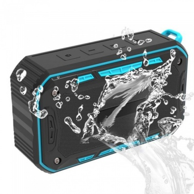 S618 Portable Outdoor Waterproof Bluetooth Sound Box Speaker - Black + Blue