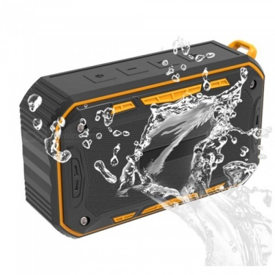 S618 Portable Outdoors Waterproof Bluetooth Sound Box Speaker - Black + Orange
