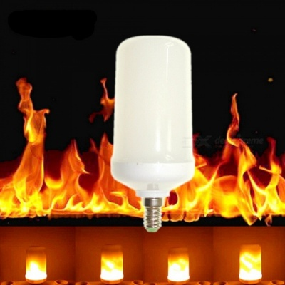 Sencart E14 LED Burning Light Flicker Flame Decorative Lamp Bulb with Fire Effects