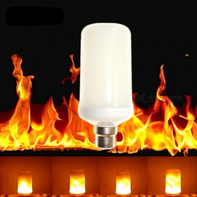 Sencart B22 LED Burning Light Flicker Flame Decorative Lamp Bulb with Fire Effects