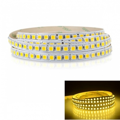 ZHAOYAO Non-Waterproof Super Bright 150W DC12V 5m 5054SMD-600LEDs LED Light Strip - Warm White