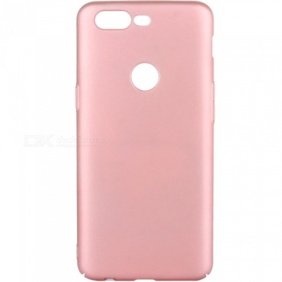 ASLING Anti-Fingerprint PC Hard Matte Phone Case Cover for OnePlus 5T - Pink
