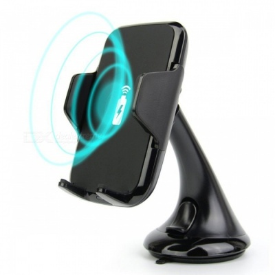 360 Degree Qi Wireless Charger Dock 2-in-1 Car Vehicle Windshield Suction Cup Holder Mount