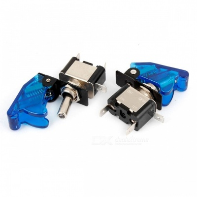 YENISEI DC 12V 20A Blue LED SPST ON/OFF Racing Car Toggle Switch - Blue (2PCS)