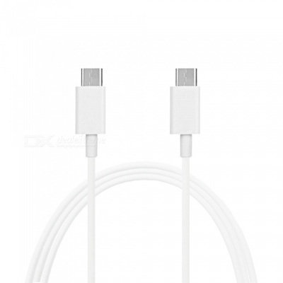 Mini Smile Quick Charge USB 3.1 Type-C Male to Male PD Data / Charging Cable - White