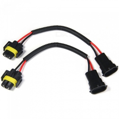 Qook 2Pcs H8 H9 H11 Extension Adapter Wiring Harness Sockets Wire for Headlight