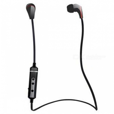 X7 Sports Bluetooth Wireless In-Ear Headphone Earphone with Mic - Black
