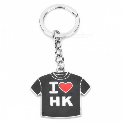 Creative Alloy Jersey Style Keychain -  Black
