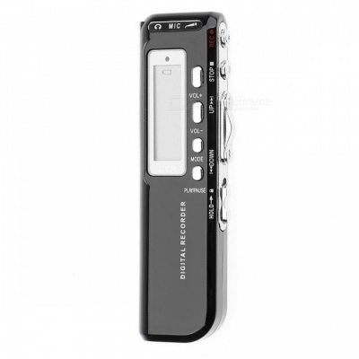 Mini Handheld 8GB USB Digital Audio Recorder, Supports MP3 Playback - Black