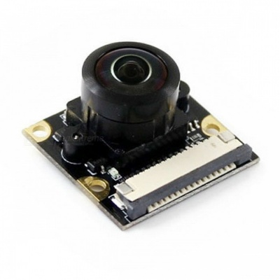 Waveshare Raspberry Pi Camera Module, Supports 1080P, 200 Degree, Fisheye Lens, Wider Field of View (No PI)