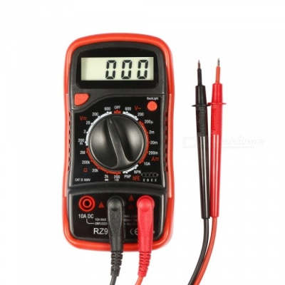 RZ920 Portable Digital Multimeter with LCD Backlight - Black