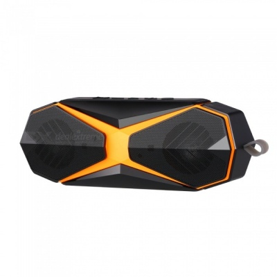 S-620 IPX7 Waterproof 10W Bluetooth V4.2 Speaker for Outdoor Sports, Supports TF Card - Black + Orange