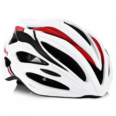 CTSmart Multi-Purpose Outdoor Riding Integrated Lightweight Breathable Helmet with Safety Warning Light - White