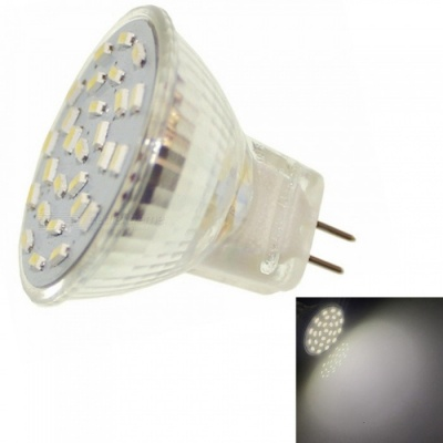 Sencart 2W MR11 27-LED SMD3014 180-200lm Cold White 6000K Decorative Light Bulb, DC/AC 12V
