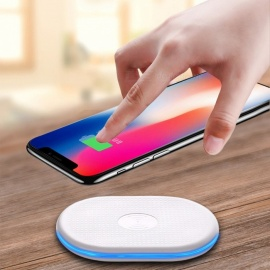 Fast Wireless Charger Stand, Qi Charging Pad for Samsung / IPHONE 8 / IPHONE X - White