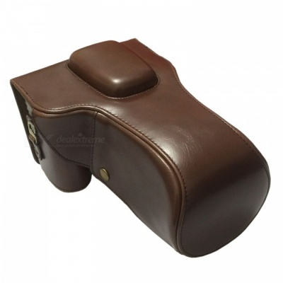 760D-CF PU Leather Camera Case Bag for Canon 600D/700D/750D/760D - Coffee