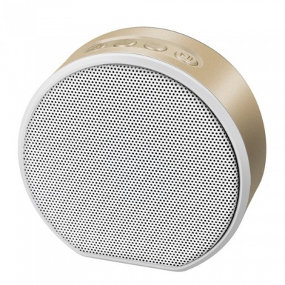 Portable Mini Music Wireless Bluetooth AUX Speaker, Support TF Card, Hands-Free Calls - Gold