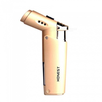 HONEST Portable Mini Torch Jet Lighter, Windproof Gas Lighter - Golden