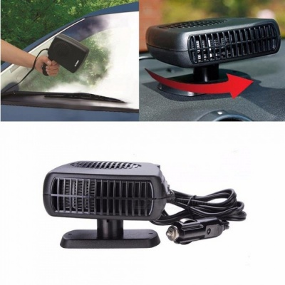2-in-1 12V Portable Swing-out Handle Car Heater Defroster Demister